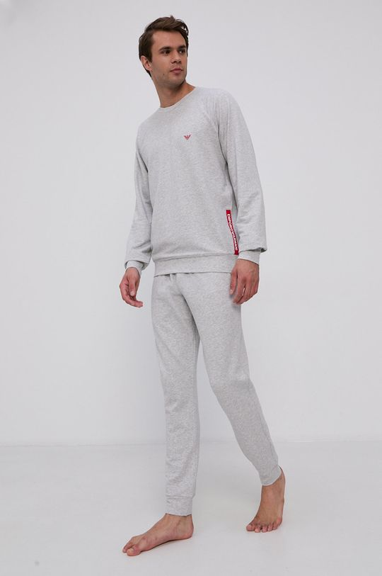 szary Emporio Armani Underwear - Piżama Męski