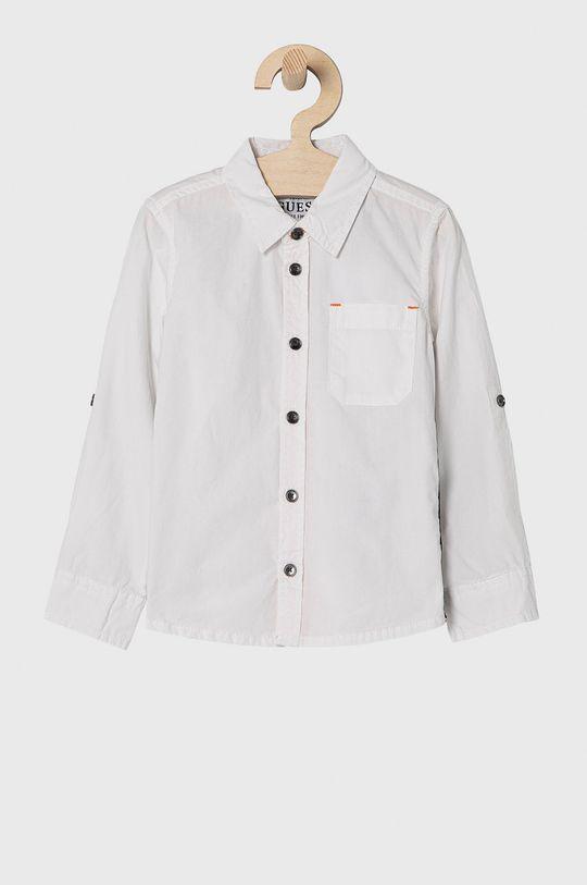 biela Guess - Detská bavlnená košeľa 92-122 cm Chlapčenský