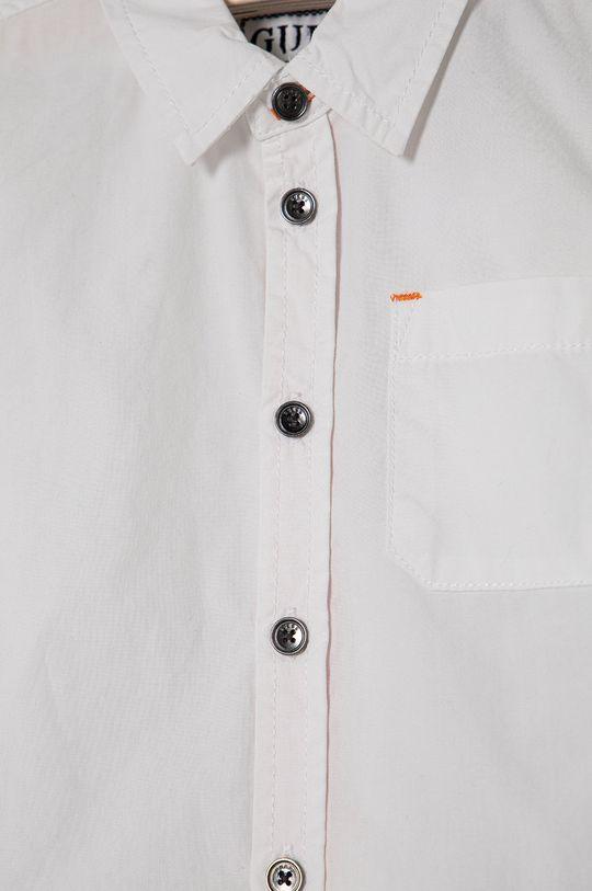 biela Guess - Detská bavlnená košeľa 92-122 cm