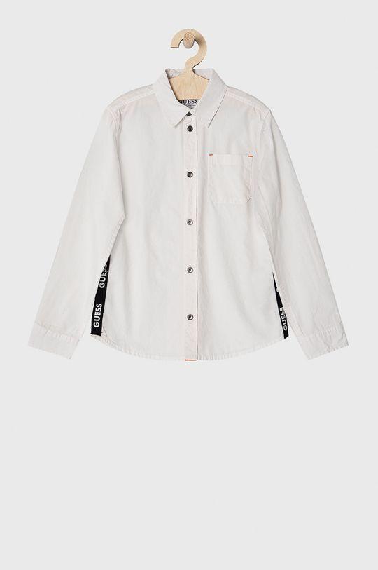 biela Guess - Detská bavlnená košeľa 116-175 cm Chlapčenský