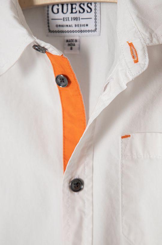 biela Guess - Detská bavlnená košeľa 116-175 cm