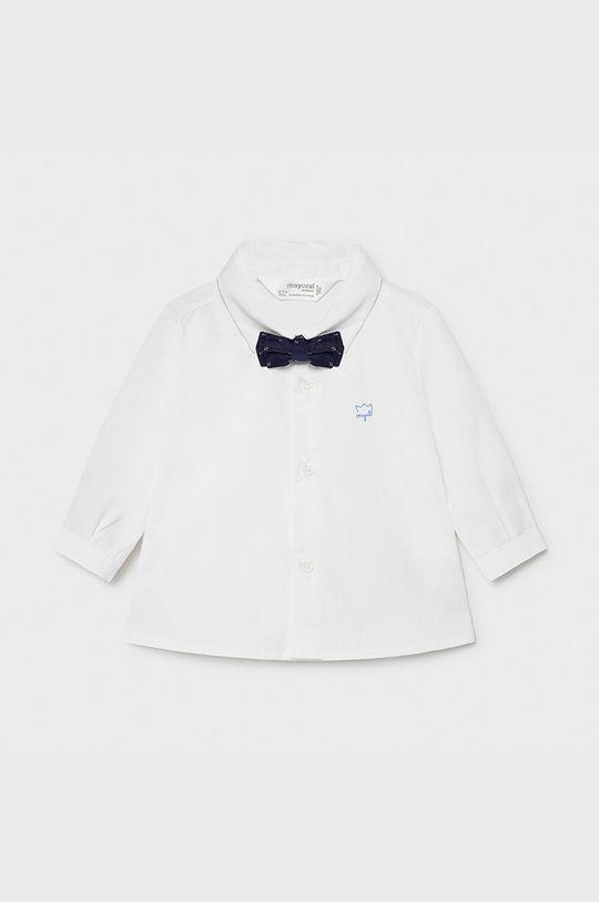 biela Mayoral Newborn - Bavlnená košeľa 60-86 cm Chlapčenský