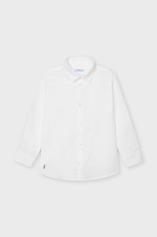 biały Mayoral - Koszula dziecięca Chłopięcy