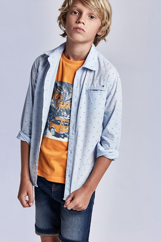 blady niebieski Mayoral - Koszula dziecięca Chłopięcy
