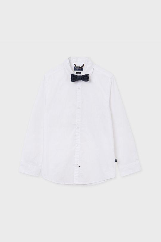 biały Mayoral - Koszula bawełniana 128-172 cm Chłopięcy