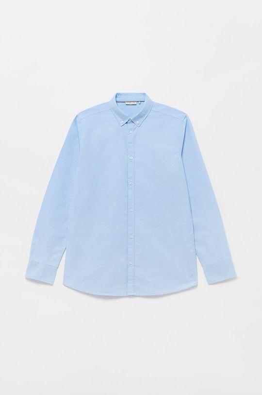 blady niebieski OVS - Koszula bawełniana dziecięca Chłopięcy