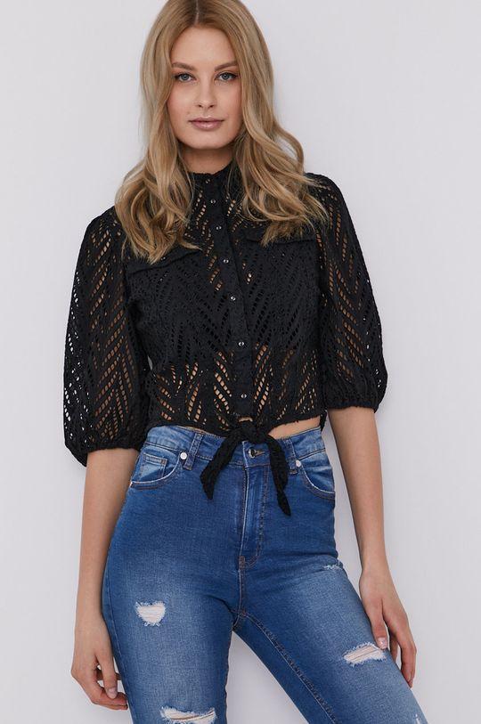 čierna Guess - Bavlnená košeľa Dámsky