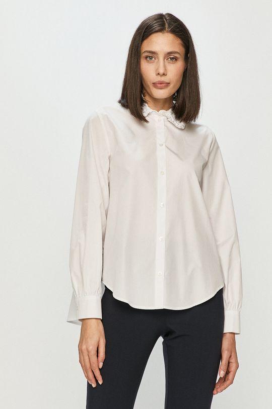 biały Samsoe Samsoe - Koszula bawełniana Damski
