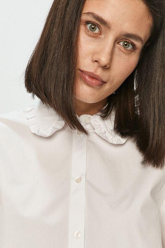 biały Samsoe Samsoe - Koszula bawełniana
