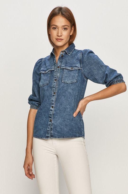 niebieski Noisy May - Koszula jeansowa Damski