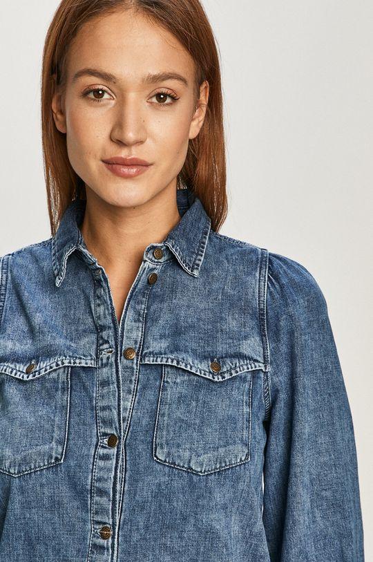 niebieski Noisy May - Koszula jeansowa