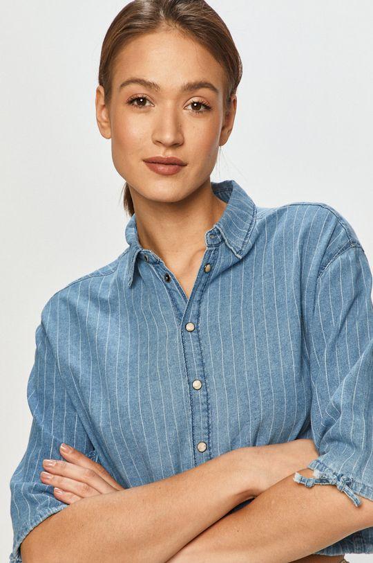 niebieski Pepe Jeans - Koszula bawełniana Lux