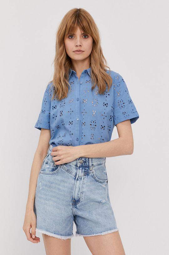modrá Pepe Jeans - Bavlnená košeľa Lara Dámsky