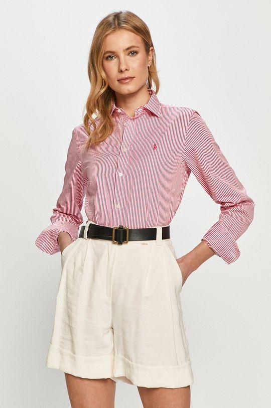 ružová Polo Ralph Lauren - Bavlnená košeľa Dámsky