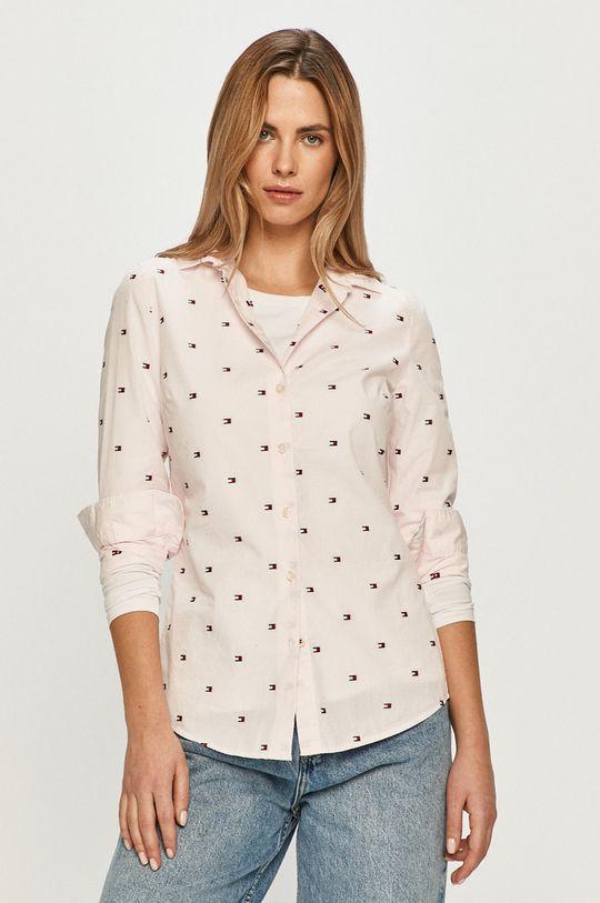 růžová Tommy Hilfiger - Bavlněné tričko Dámský