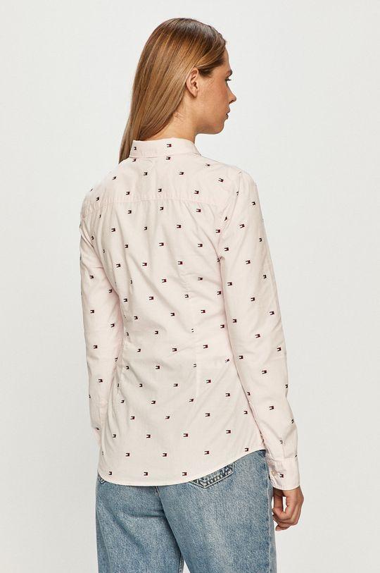růžová Tommy Hilfiger - Bavlněné tričko