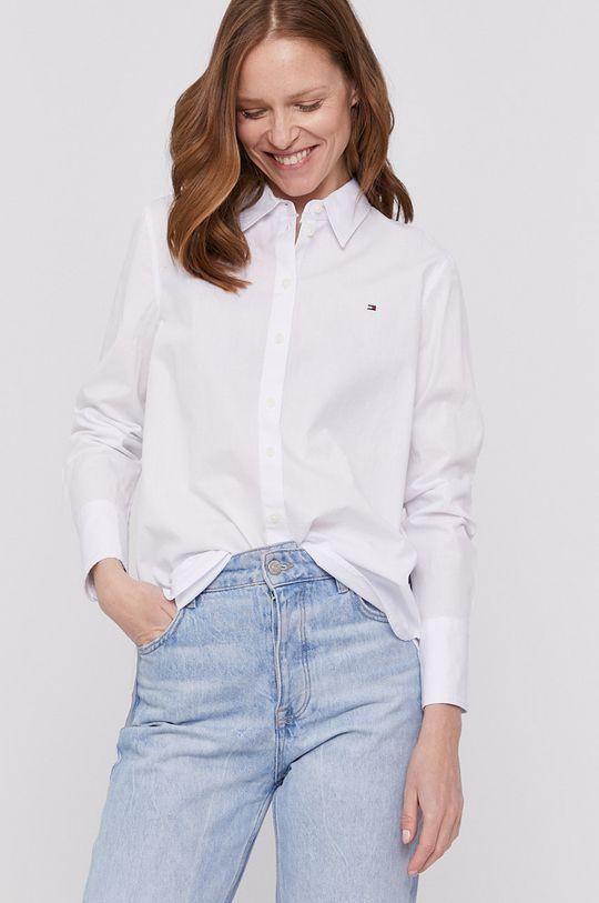 biela Tommy Hilfiger - Bavlnená košeľa Dámsky