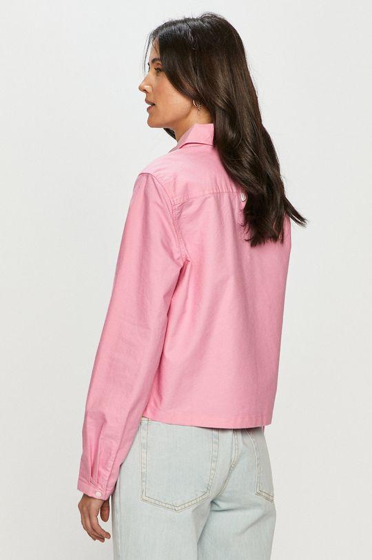 růžová Tommy Jeans - Bavlněné tričko