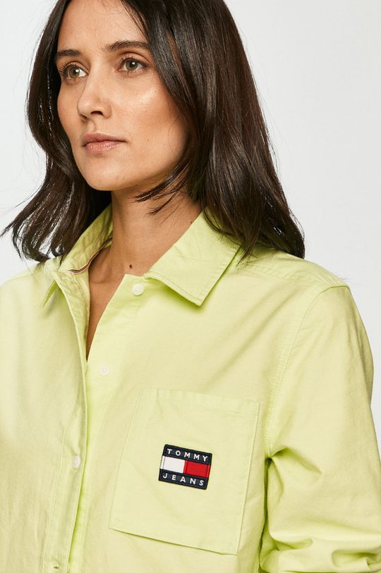 žlutě zelená Tommy Jeans - Bavlněné tričko