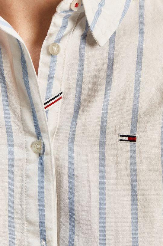 Tommy Jeans - Bavlnená košeľa biela
