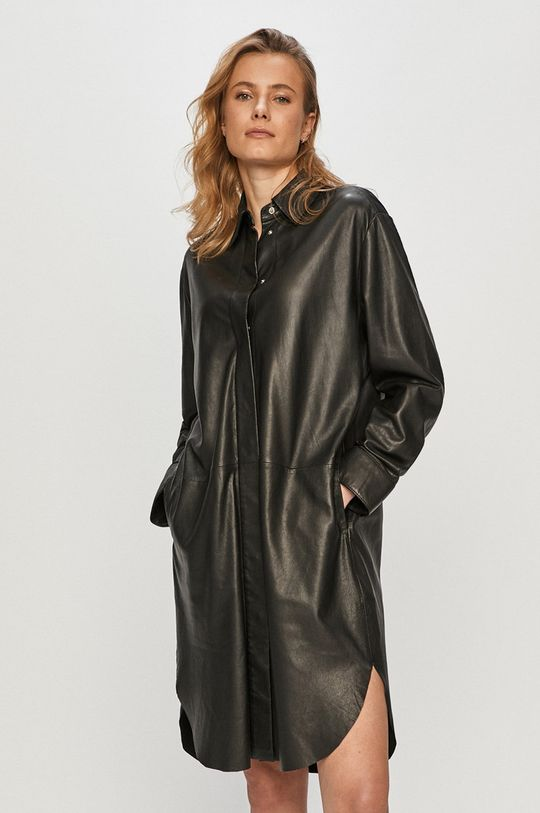 negru Marc O'Polo - Rochie de piele De femei