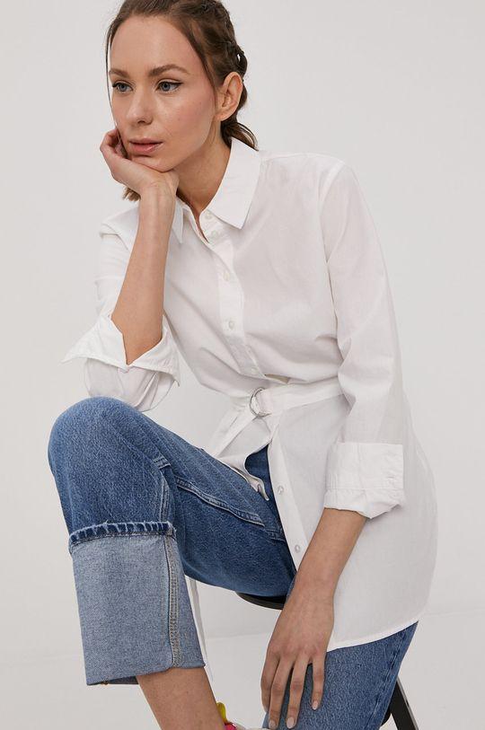 biały Tally Weijl - Koszula bawełniana Damski