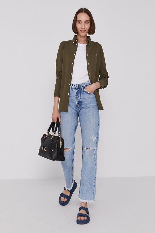 Polo Ralph Lauren - Bavlněné tričko olivová