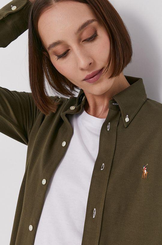 olivová Polo Ralph Lauren - Bavlněné tričko