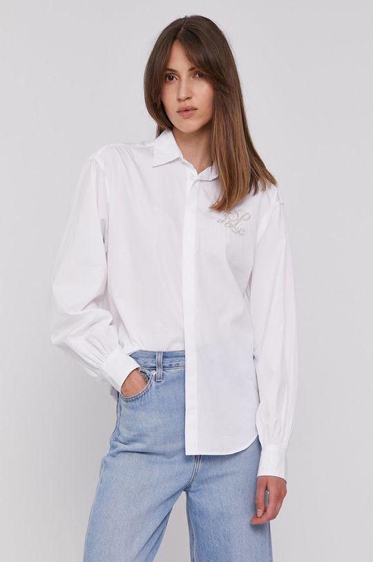 bílá Polo Ralph Lauren - Bavlněné tričko Dámský
