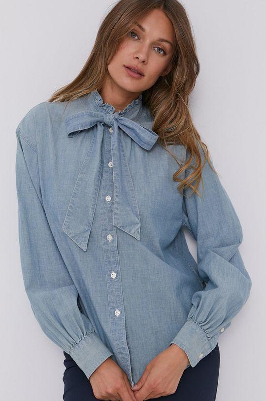 světle modrá Lauren Ralph Lauren - Bavlněná košile Dámský