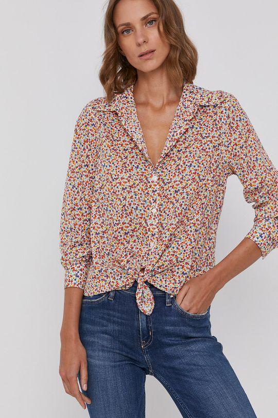 viacfarebná United Colors of Benetton - Bavlnená košeľa Dámsky