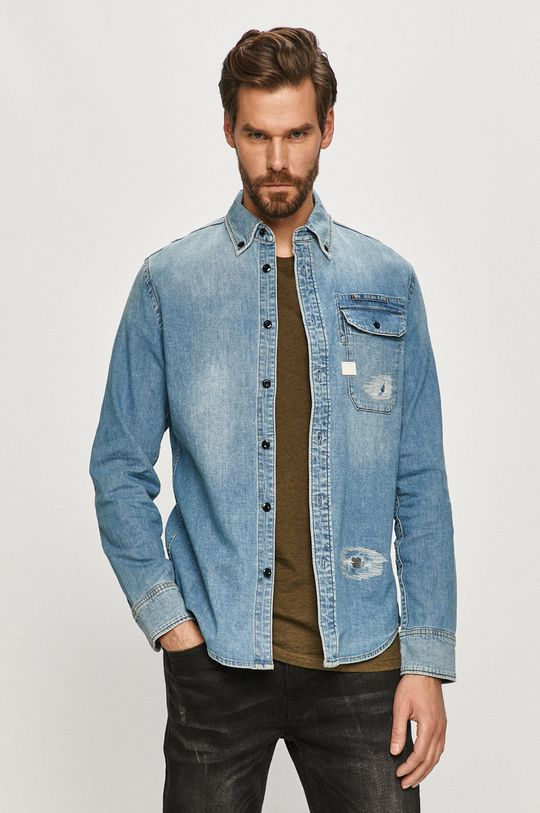 jasny niebieski G-Star Raw - Koszula jeansowa Męski