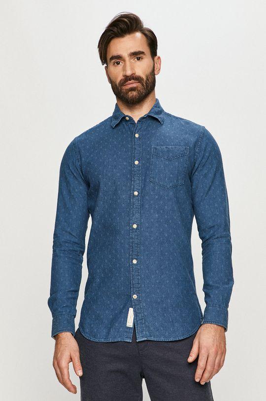 niebieski Premium by Jack&Jones - Koszula bawełniana Męski