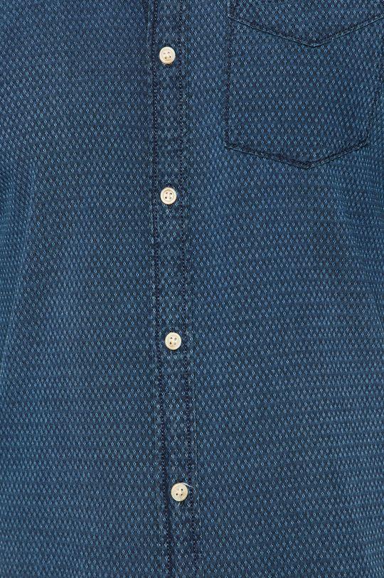 Premium by Jack&Jones - Bavlnená košeľa tmavomodrá