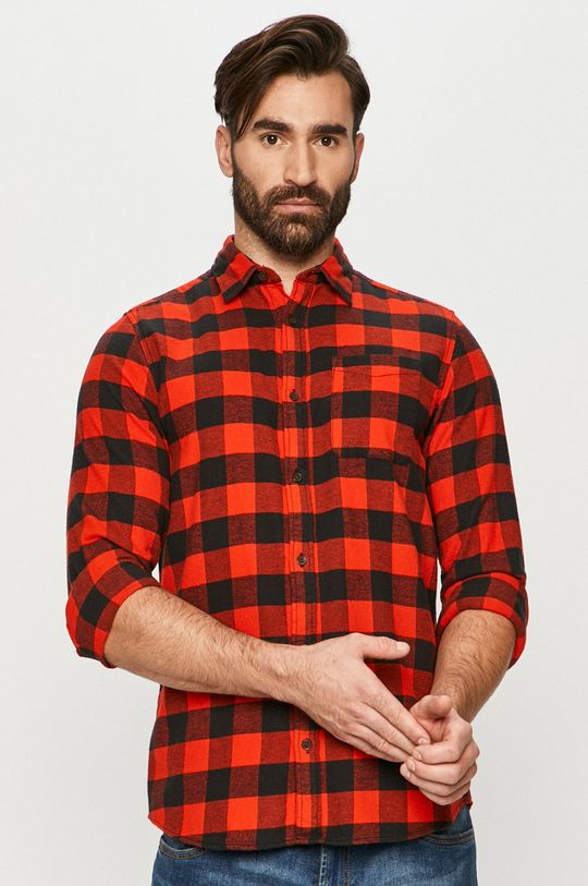 czerwony Jack & Jones - Koszula bawełniana Męski