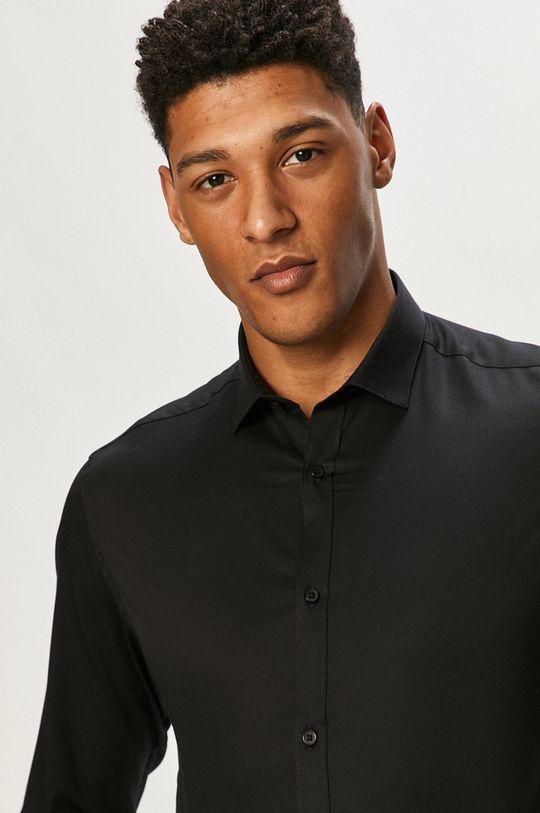 czarny Premium by Jack&Jones - Koszula Męski