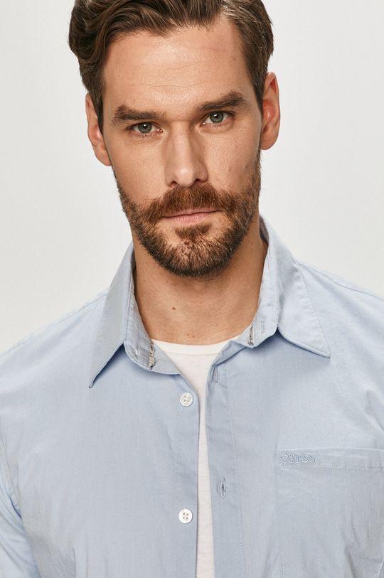 jasny niebieski Guess - Koszula Męski