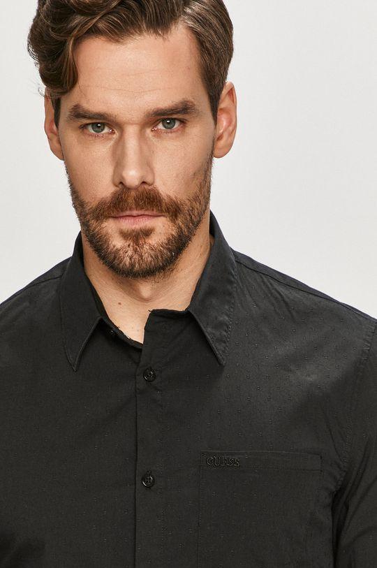 czarny Guess - Koszula Męski