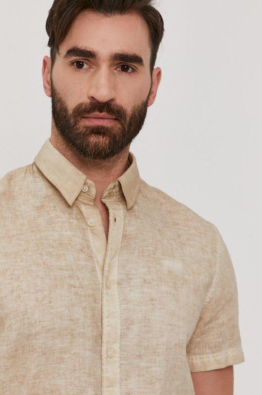 kremowy Guess - Koszula Męski