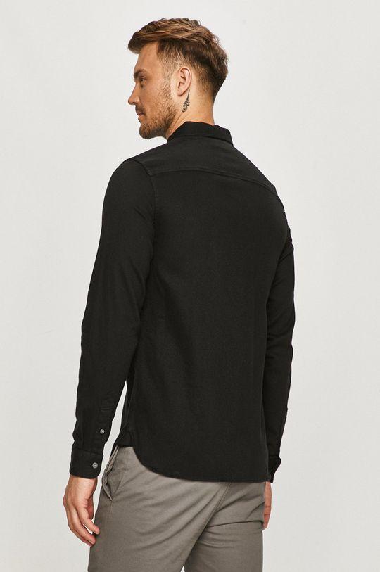czarny AllSaints - Koszula bawełniana