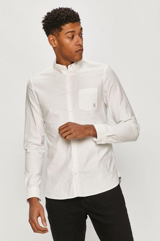 biały AllSaints - Koszula bawełniana Męski