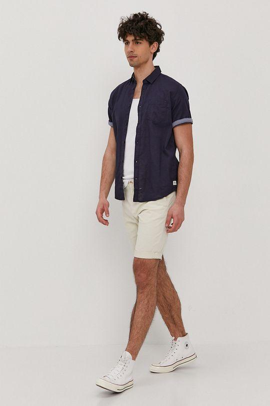 Tom Tailor - Koszula 45 % Bawełna, 55 % Len