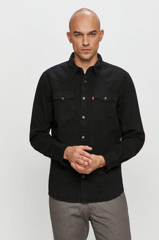 černá Levi's - Džínová košile Pánský