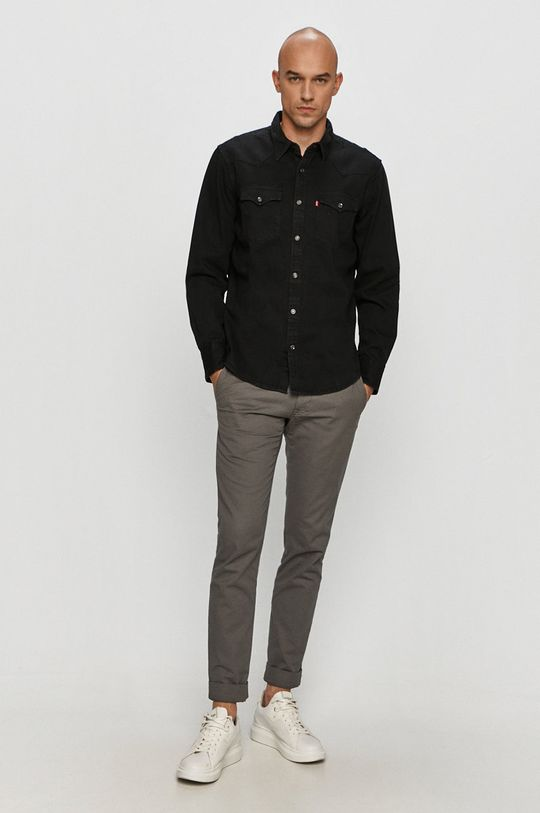 Levi's - Džínová košile  100% Bavlna