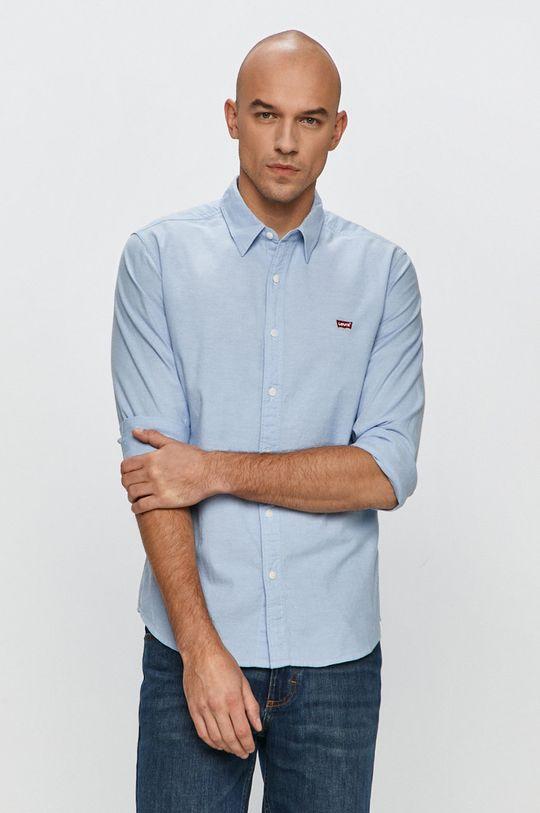 modrá Levi's - Bavlnená košeľa Pánsky