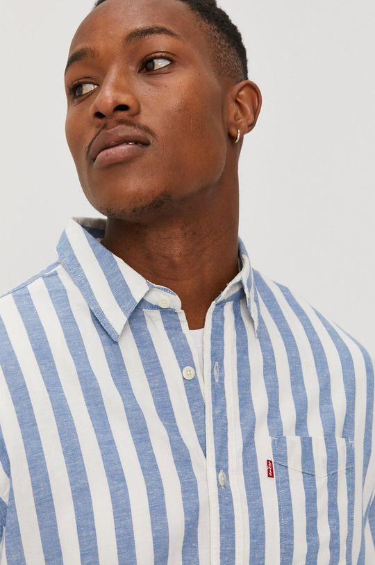 niebieski Levi's - Koszula Męski