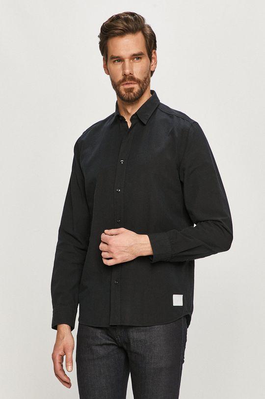 čierna Hugo - Bavlnená košeľa Pánsky