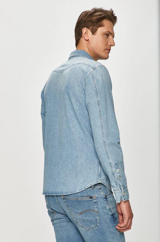 modrá Pepe Jeans - Bavlněné tričko Noah