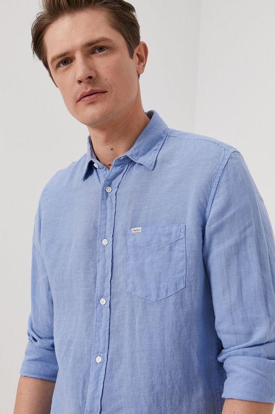 jasny niebieski Pepe Jeans - Koszula Parker Męski