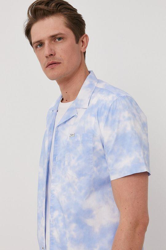 niebieski Pepe Jeans - Koszula bawełniana Shawn Męski
